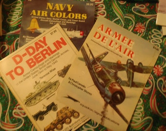 D-Day to Berlin, 1979, Navy Air Colors, 1983, and Armee De L'Air, 1976