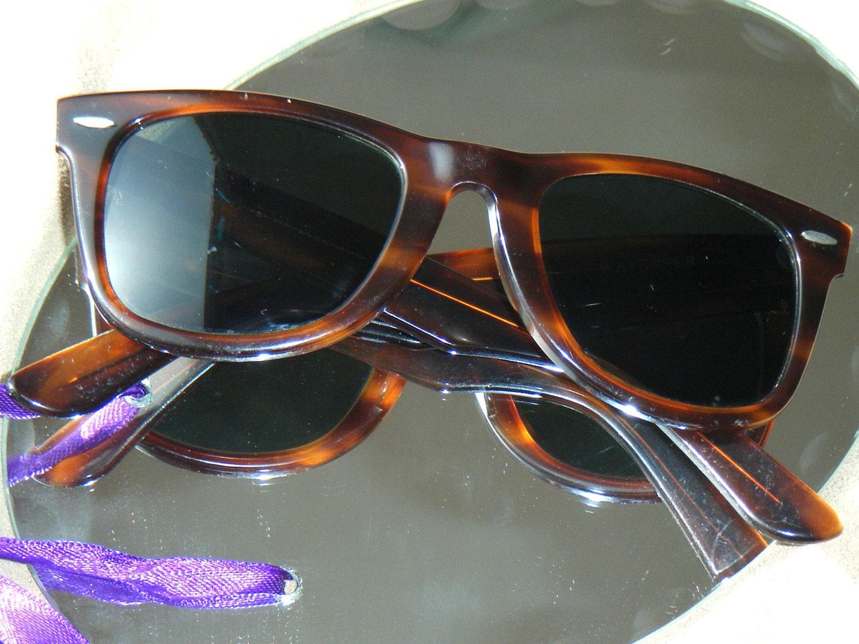 Ray Ban Glasses Frames Tortoise Shell : Vintage Ray Ban Wayfarer Tortoise Shell Sunglasses original
