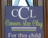 Custom Personalized Children's Nursery Art Canvas