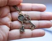 Heart and Soul Keys Necklace