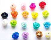 Boucles d'oreilles Rose moyen
