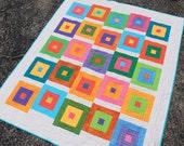 "Block Hop 2-1/2"" Strip Quilt Pattern - Multiple Sizes - Crib, Lap, Twin  -  Printed Pattern"
