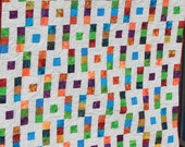 """Square Step 2-1/2"""" Strip Quilt Pattern - Multiple Sizes -  Crib to King size - Printed Pattern"""