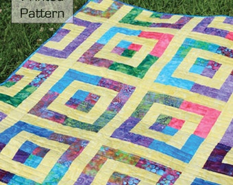 "Cha Cha Cha 2-1/2"" Strip Quilt Pattern - Multiple Sizes -  Crib to King size - Printed Pattern"