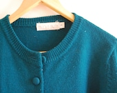 Jade Green 1950s sweater cardigan -  Size small