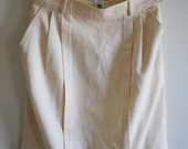 Vintage Escada Creme/Cream knee length pleat skirt - Size 38/ AUS 8