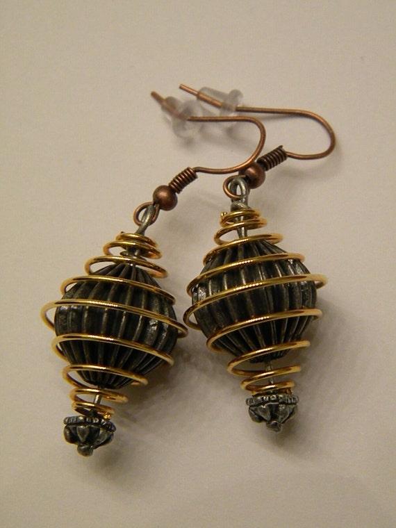 Steampunk Nautilus Earrings