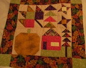 Stunning Handmade Quilted Autumn Wall-Hanging