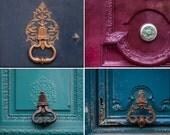 Paris Photo Set - Ornate Door Knockers, Architectural Detail Fine Art Photographs,  Home Decor, Wall Art