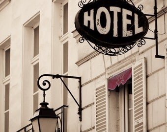 Paris Photography - Street Scene, Paris decor, Hotel, Architectural Fine Art Photograph, Urban Home Decor