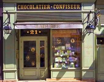 Paris Photo - Laduree Bonaparte, French Patisserie, Famous French Bakery, Paris, France, Home Decor