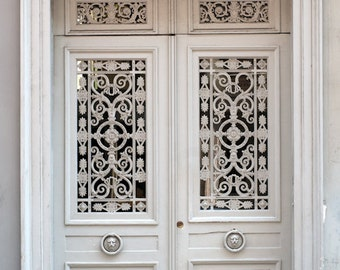 Paris Photos -  Four Parisian Doors, Home Decor, Wall Art, Architectural, Red, Blue, Maroon, White