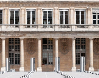 Paris Photograph, Palais Royal, Home Decor, Architectural Fine Art Photograph, Wall Art