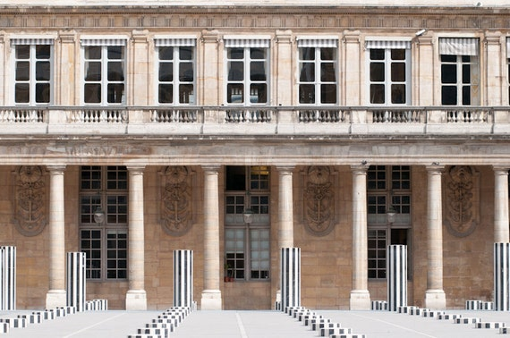Paris Photograph, Palais Royal, Home Decor, Architectural Fine Art Photograph, Wall Art