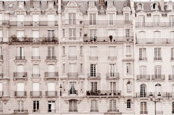 Paris Photo - Windows, Sepia  Photograph, Urban Home Decor, Wall Art, French Architecture