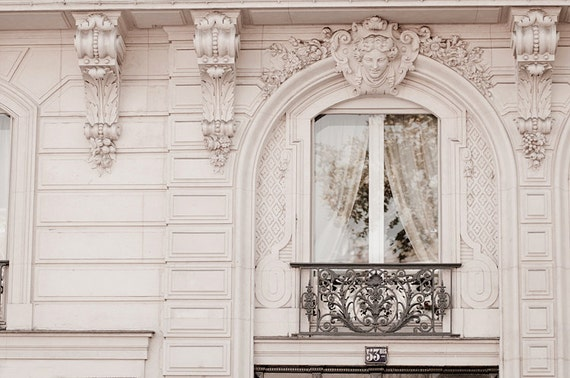 Paris Photograph Baroque Window Classic Black and White