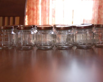 Recycled / Repurposed Empty Glass Baby Food / Storage Jars w/ Matching Lids -  Get Organized - 1 Dozen