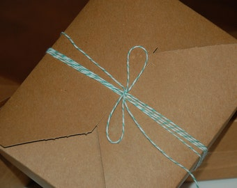 Natural Brown Recycled Kraft Bakery Gift Earth Box Lot of 6 (1/2 dozen)