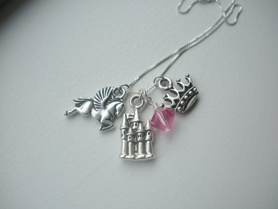 Princess Charm and Crystal Necklace