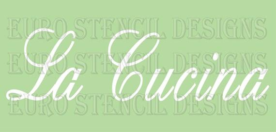 Euro stencil design la cucina italian used for burlap for Stencil cucina