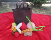 Baby's First Groceries - Spill and Fill Grocery Bag - Toy Fruits and Vegetables - Wardolf Toy