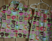 Custom Cotton Long Sleeve Button Up Pajamas 6mths-4T