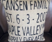 Modern Personalized Accent Pillow