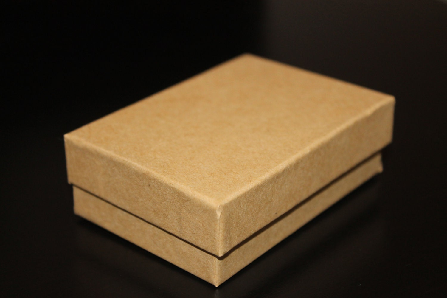 Natural Cardboard Gift Box with Cotton Filler Gift Wrapping