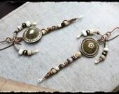 Hadhi.  Tribal assemblage earrings.