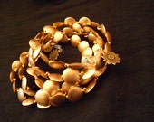 Midas touch- Gold bead and wire bracelet
