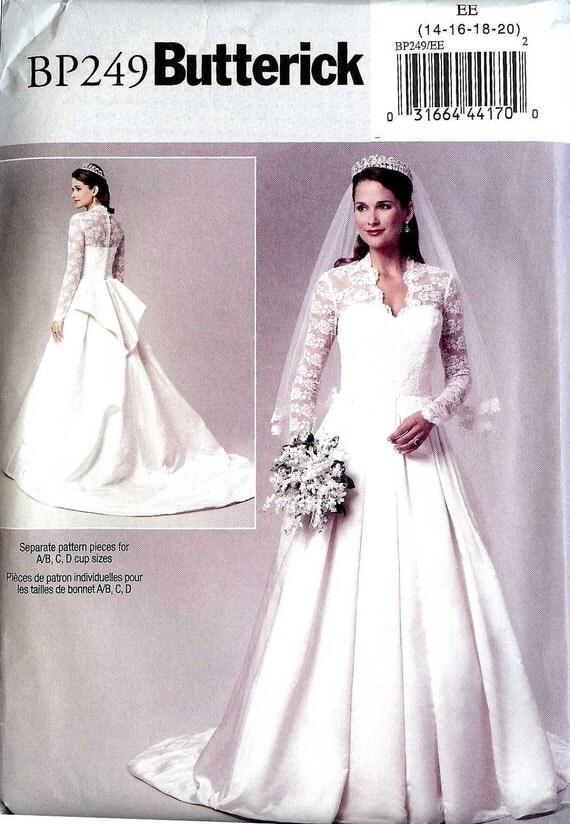 Pattern royal wedding dress butterick bp249 by whitestarheart for Butterick wedding dress patterns