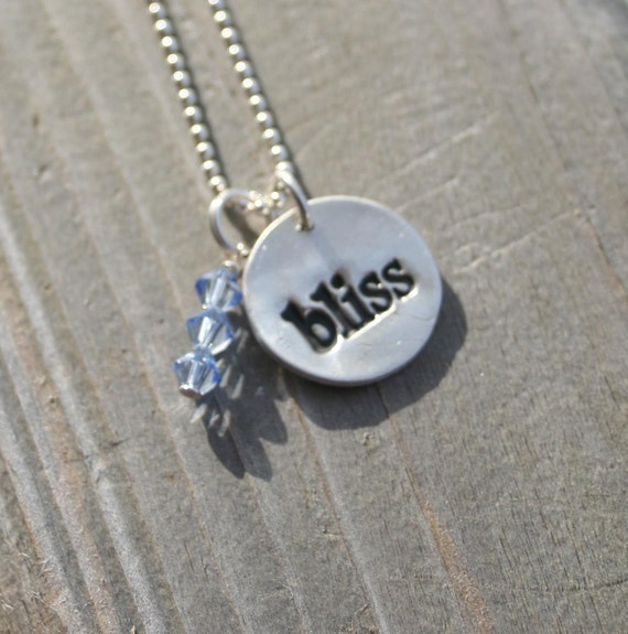 Bliss Necklace with Blue Crystals