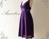 NEW--Amor Vintage Inspired- Vintage Retro- Magic of Purple Floral Elegant Cotton Lace Dress for All Occasion
