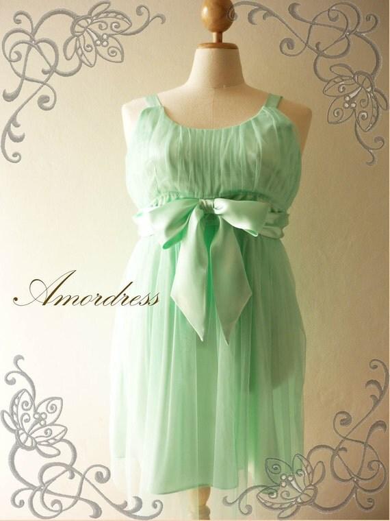 Plus Size Green Party Dress Wedding Prom Party Dress -XL -
