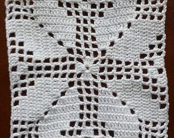 Instant Download Crochet PDF pattern - LD-0105 Filet Afghan block