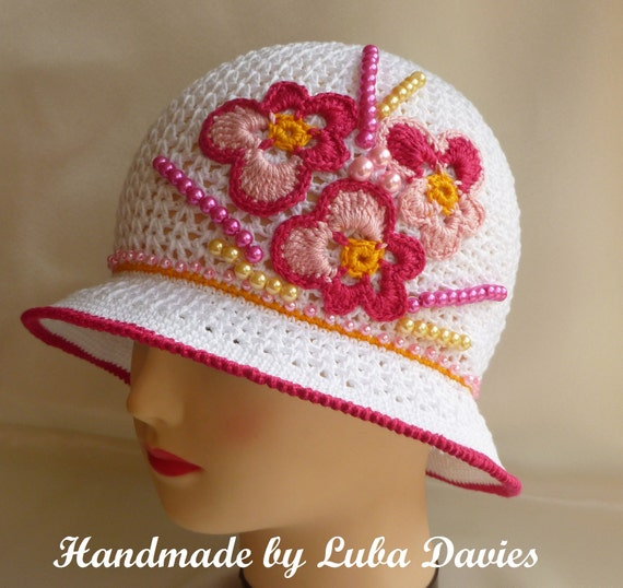 Instant Download Crochet PDF pattern - MISS PANSY brimmed cloche