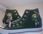 Legend of Zelda Wind Waker Converse (Hand-painted)