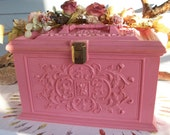 Vintage sewing box gorgeous pink plastic sewing basket or box by Max klein