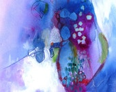 """SALE ITEM Abstract Painting Modern Art Contemporary  Art """"Shy"""""""