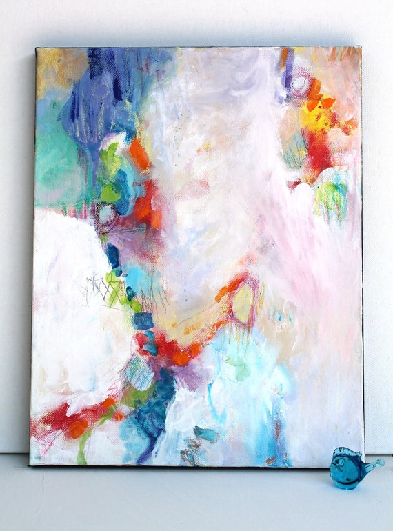 "Abstract Expressionist Original Modern Painting on Canvas ""Crescendo"""