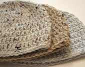Newborn baby hat.  Crochet.  Made to order.  Neutral colors.  Unisex.  Gender neutral.  Baby beanie.