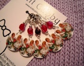 Vintage Valentine Sweethearts NON SNAG Stitch Markers