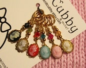 Elegance in Multi (listing for SIX) Cameo NON SNAG Stitch Markers
