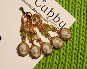 Elegance in Olive Non Snag Stitch Markers - Set of Five