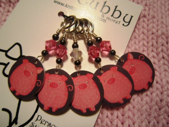 OINK OINK OINK Non Snag Stitch Markers