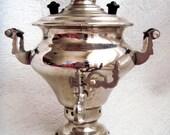 1979 Very rare miniature Vintage Soviet Russian URSS Samovar Souvenir Kettle Teapot SILVER TONE oldapanx 0.08 fl oz