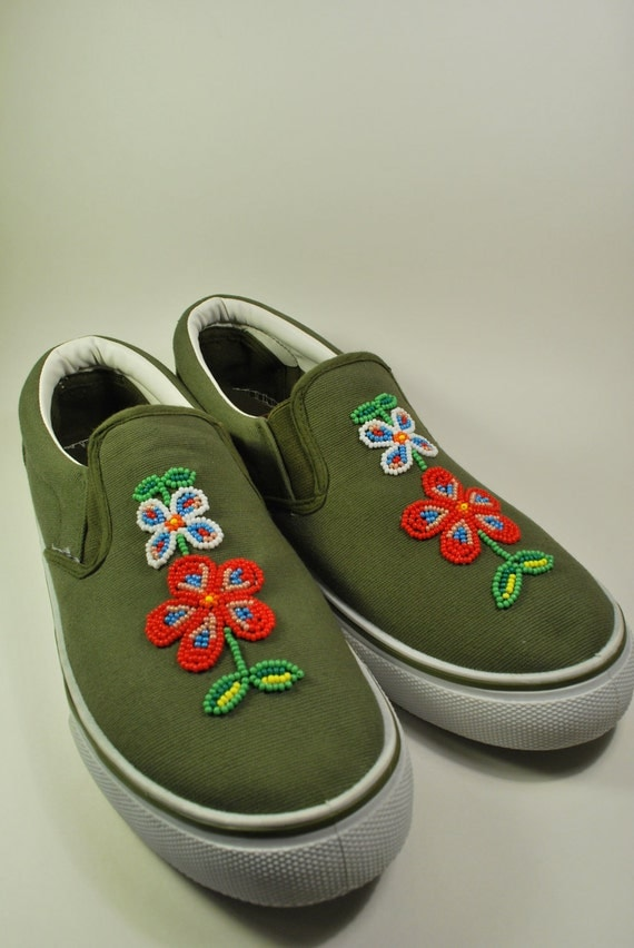 items similar to american beaded canvas shoes on etsy