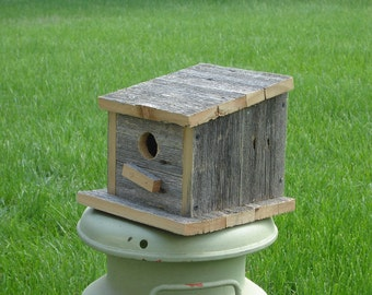 Old wood Bird House small