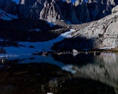 """Mt. Whitney at night with lake 7""""X10"""" Archival Fine Art Print"""