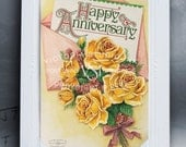 Happy Anniversary Vintage Bouquet of Flowers by Victoria Studio Ink -  Loves Presents Magnet